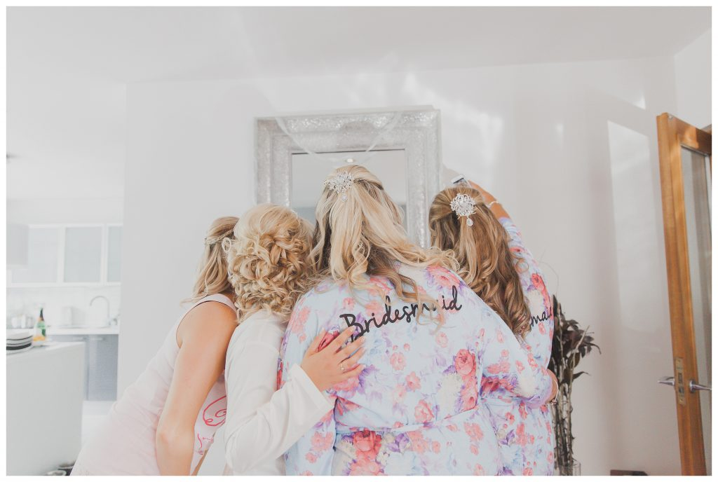 Bridesmaids standing together