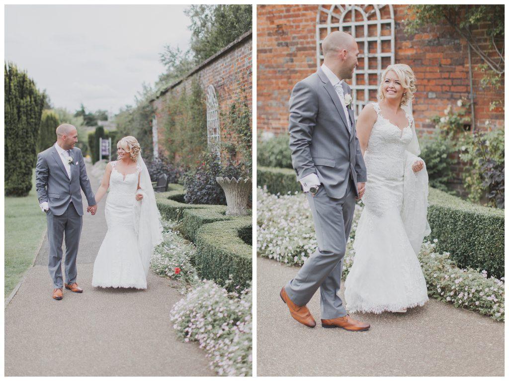 Brdie and groom walking in Stockwood Park