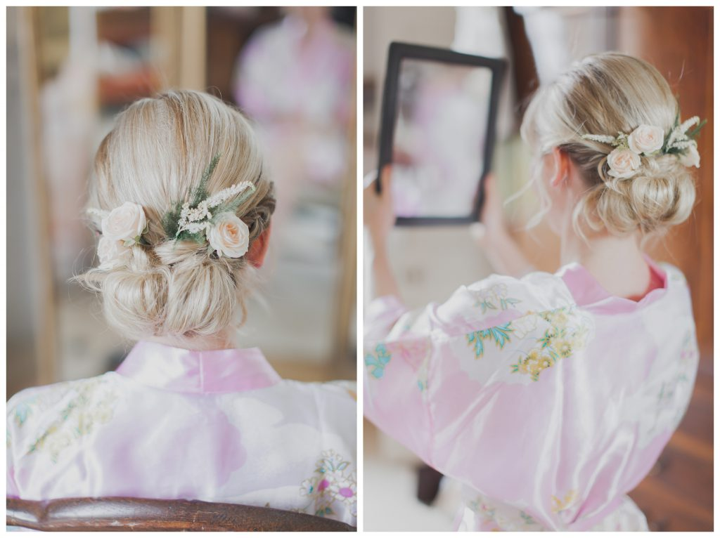 Bridal hair up do