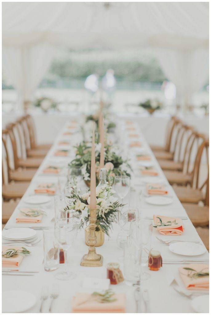 dressed table in marque