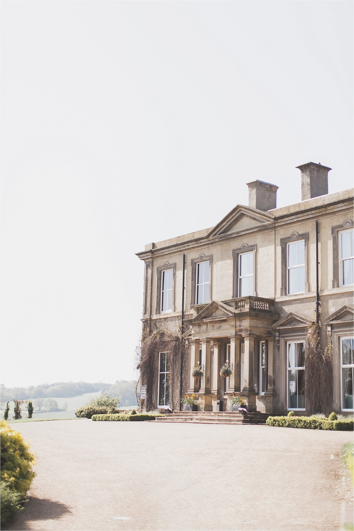 The front entrance of Hothorpe Hall