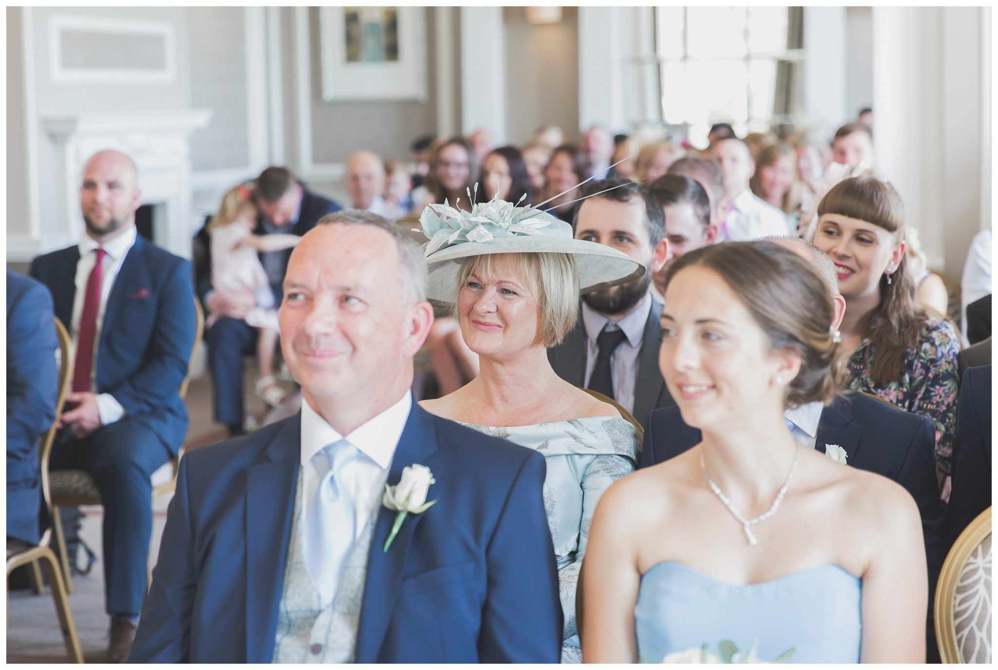 Mother of the bride smiling