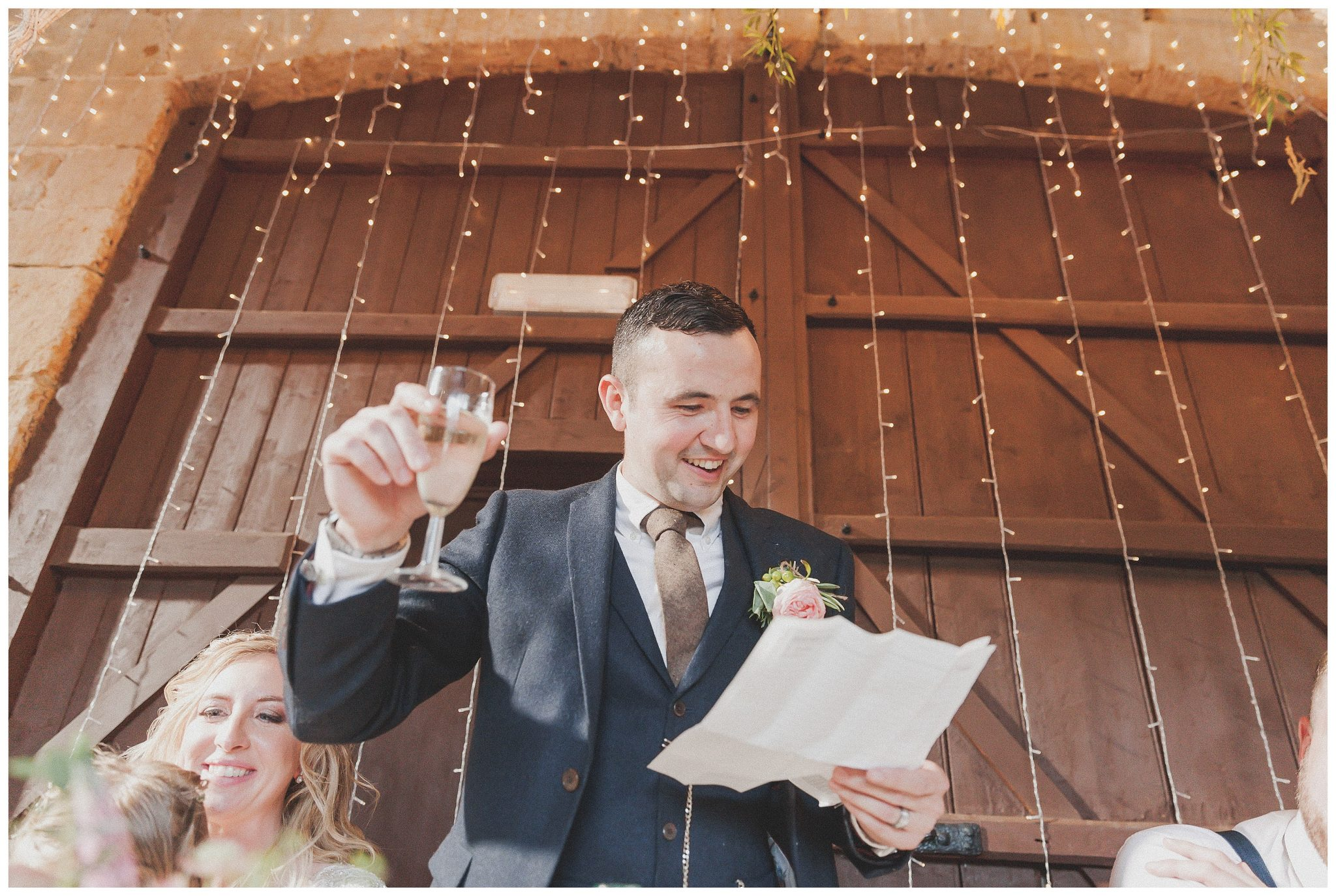 Groom making a toast