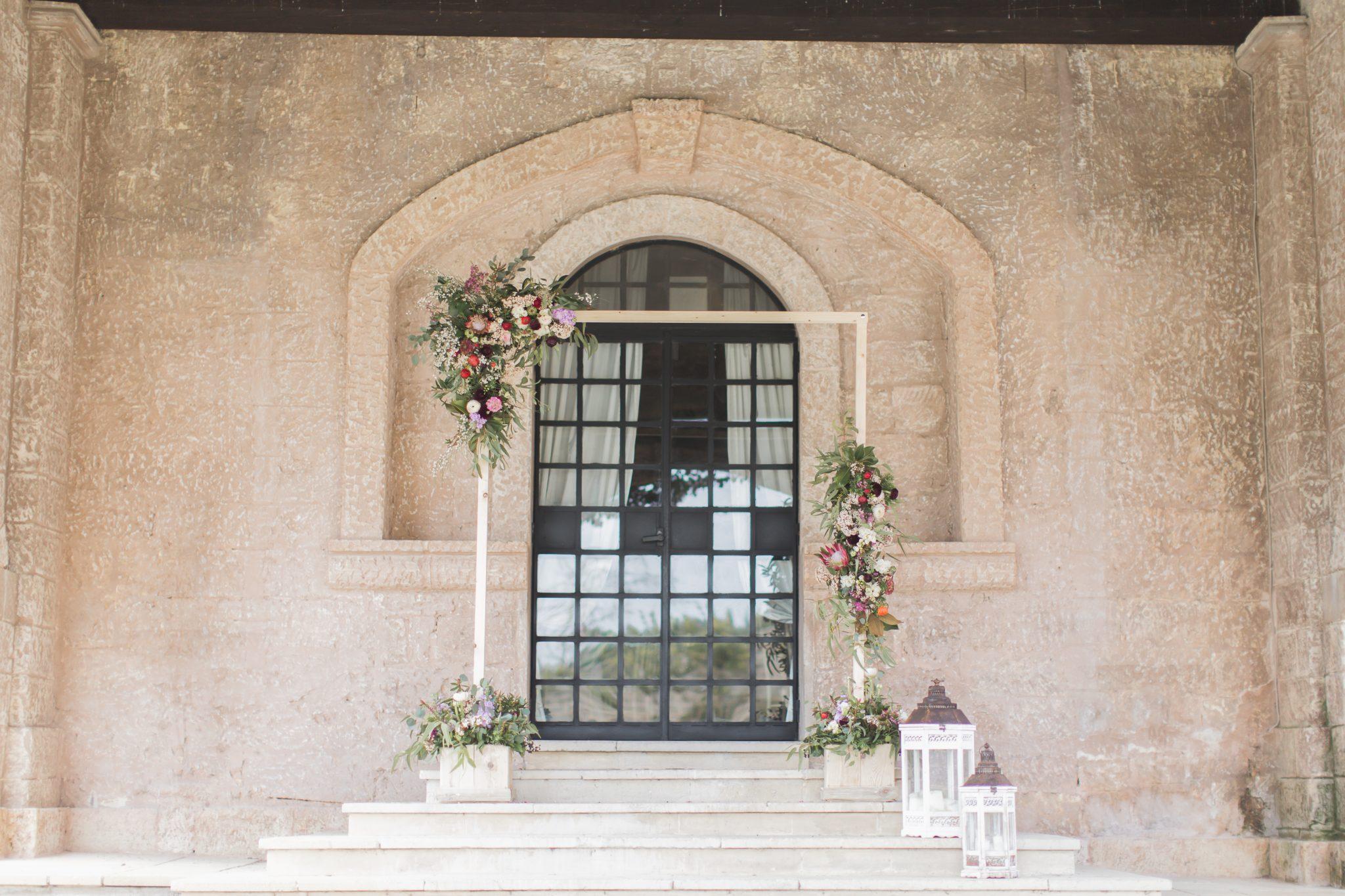 dressed wedding venue