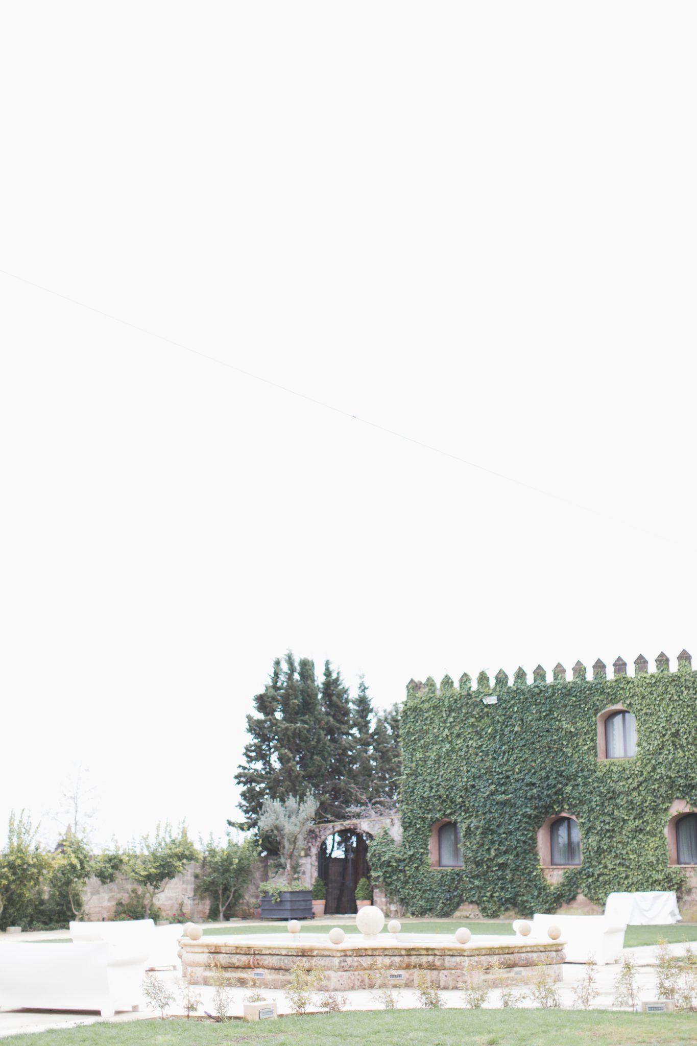 Outside of castle wedding venue