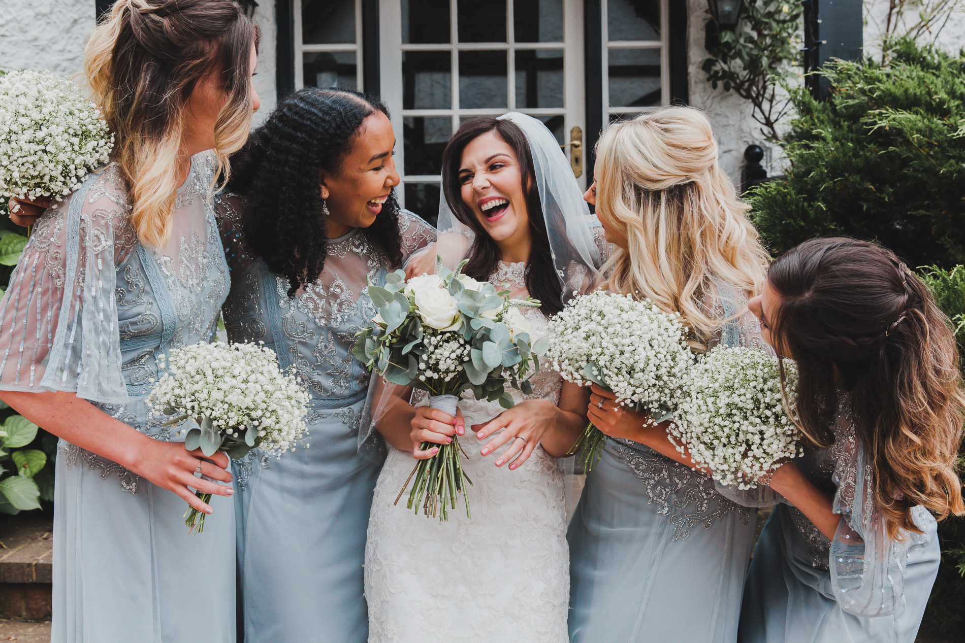 Brides with bridesmaids  2