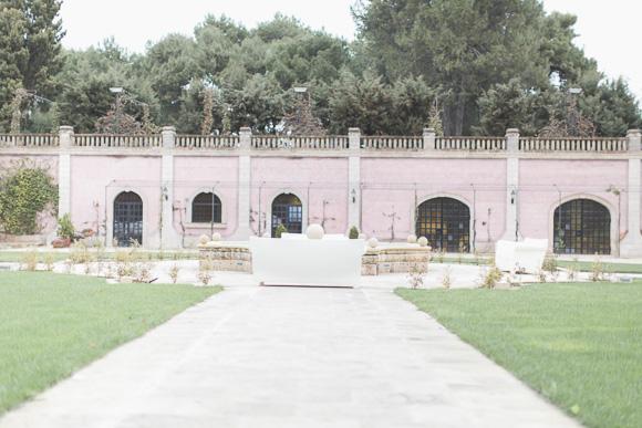 Outdoor space at castle wedding venue