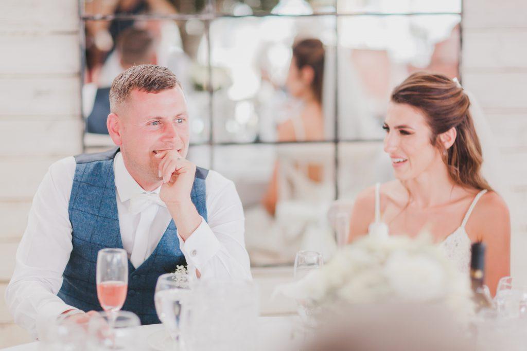 Wedding speeches reactions